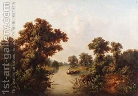 Landscape With Lake by (after) Lev L'vovich Kamenev - Reproduction Oil Painting