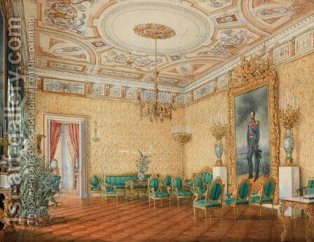 Palace Interior by Eduard Hau - Reproduction Oil Painting