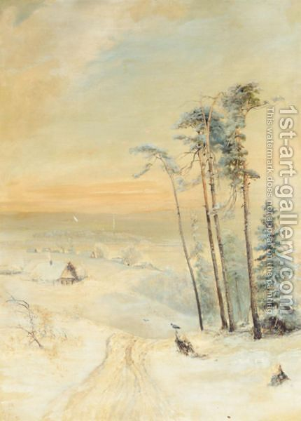 Winter Landscape 2 by Alexei Kondratyevich Savrasov - Reproduction Oil Painting