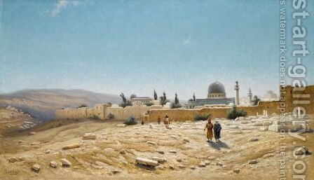 Jerusalem, Autumn by Efim Efimovich Volkov - Reproduction Oil Painting