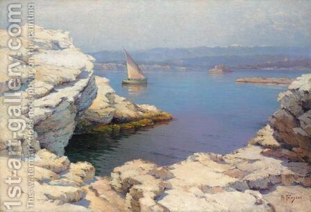 Coastal View by Aleksei Vasilievich Hanzen - Reproduction Oil Painting