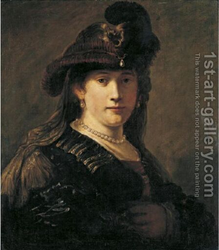 Portrait Of A Lady 3 by Govert Teunisz. Flinck - Reproduction Oil Painting