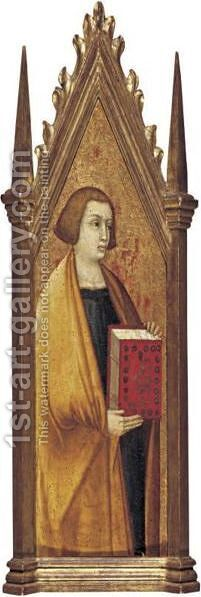 St. John The Evangelist by (after) Pietro Lorenzetti - Reproduction Oil Painting