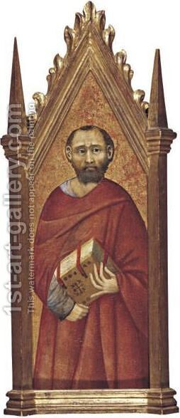 St. Mark by (after) Pietro Lorenzetti - Reproduction Oil Painting
