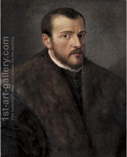 Portrait Of A Bearded Man by (after) Giovanni Battista Moroni - Reproduction Oil Painting