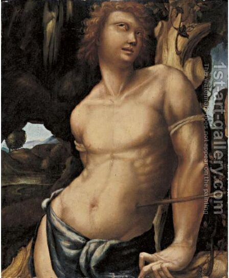 Saint Sebastian by Agostino Di Francesco Marti - Reproduction Oil Painting