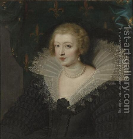 Portrait Of Queen Anne Of Austria by (after) Sir Peter Paul Rubens - Reproduction Oil Painting