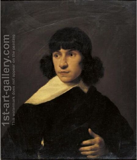 Portrait Of A Young Man by (after) Jan De Bray - Reproduction Oil Painting