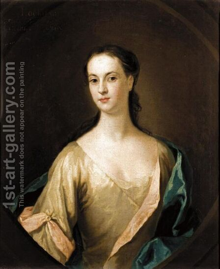 Portrait Of Eupheme Lockhart, 3rd Wife Of John, 6th Earl Of Wigton (1702-1762) by (after) William Aikman - Reproduction Oil Painting