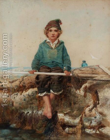 The Little Shrimper by Alfred Downing Fripp - Reproduction Oil Painting