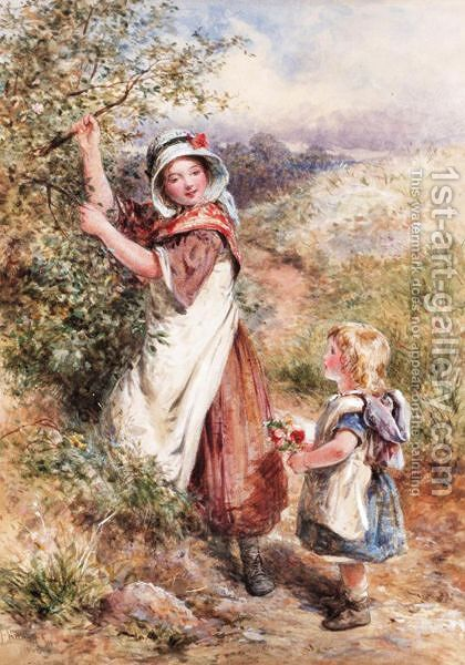 The Blossom Gatherer by James Hardy Jnr - Reproduction Oil Painting