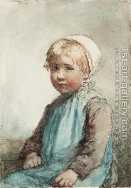 Portrait If A Girl by Hugh Cameron - Reproduction Oil Painting