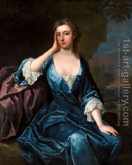 Portrait Of Frances Digby, Viscountess Scudamore (1685-1729) by Charles Jervas - Reproduction Oil Painting
