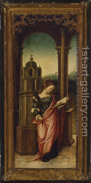 Saint Barbara by (after) Bernard Van Orley - Reproduction Oil Painting