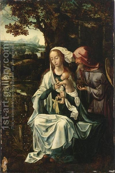 The Rest On The Flight To Egypt by Antwerp School - Reproduction Oil Painting