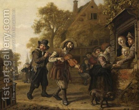 The Blind Fiddler 2 by Jan Victors - Reproduction Oil Painting