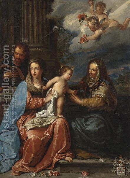 The Holy Family With Saint Anne by (after) Erasmus II Quellin (Quellinus) - Reproduction Oil Painting