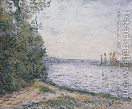 La Seine Pres De By 2 by Alfred Sisley - Reproduction Oil Painting