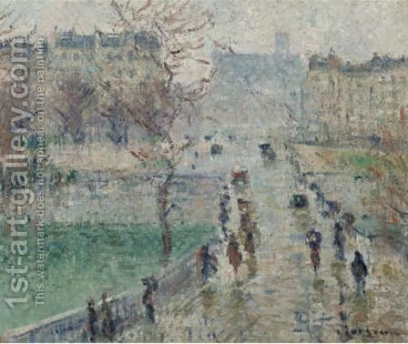 Le Pont De L'Archeveche, Paris by Gustave Loiseau - Reproduction Oil Painting