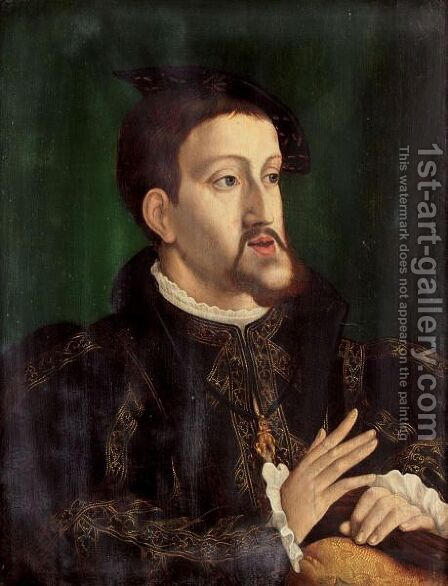 Portrait Of The Emperor Charles V by (after) Jan Cornelisz. Vermeyen - Reproduction Oil Painting