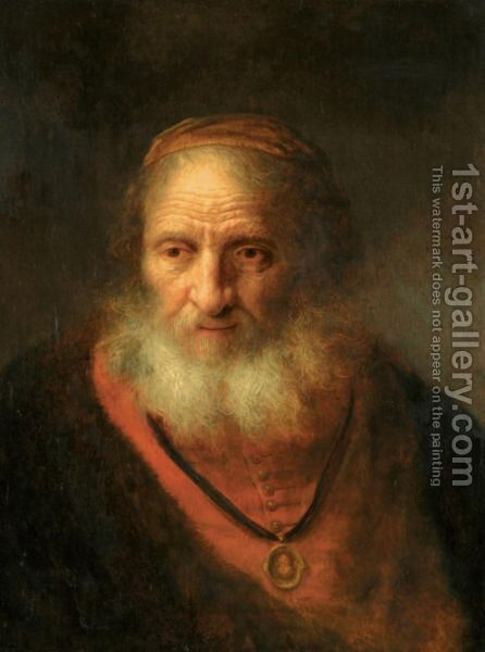 Portrait Of An Old Man by Govert Teunisz. Flinck - Reproduction Oil Painting