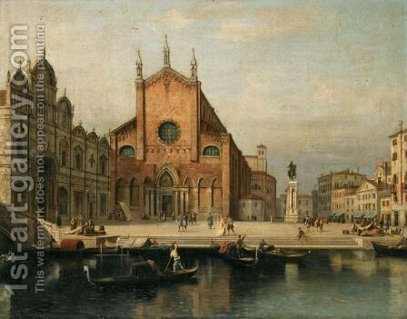 Venice, A View Of The Church Of Ss. Giovanni E Paolo And The Ospedale Di San Marco by (after) (Giovanni Antonio Canal) Canaletto - Reproduction Oil Painting