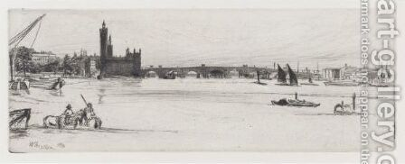 Old Westminster Bridge by James Abbott McNeill Whistler - Reproduction Oil Painting