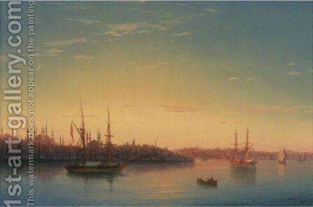 The Golden Horn, Constantinople, Moonlight by Ivan Konstantinovich Aivazovsky - Reproduction Oil Painting