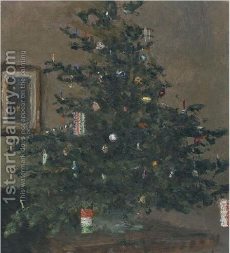 Christmas Tree by Ivan Pavlovich Pokhitonov - Reproduction Oil Painting