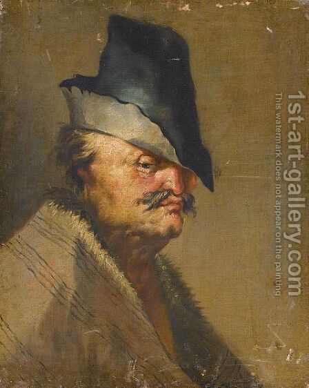 Portrait Of An Old Man, Head And Shoulders, Wearing A Hat by (after) Adriaen Jansz. Van Ostade - Reproduction Oil Painting