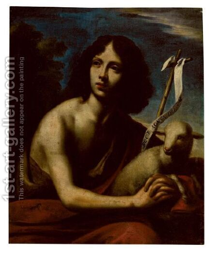 Saint John The Baptist by (after) Cesare Dandini - Reproduction Oil Painting