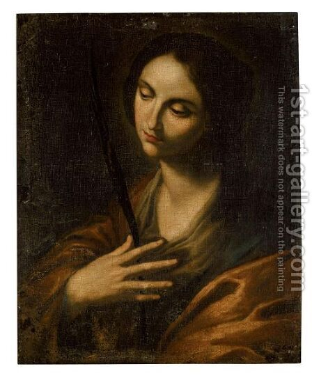 Saint Catherine In Prayer by (after) Francesco Guarino - Reproduction Oil Painting