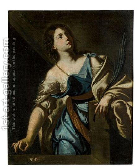 Saint Lucy 2 by (after) Massimo Stanzione - Reproduction Oil Painting