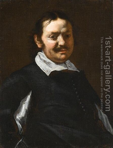Portrait Of A Man, Half Length, Wearing Black With A White Ruff by (after) Michaelanglo Cerquozzi - Reproduction Oil Painting
