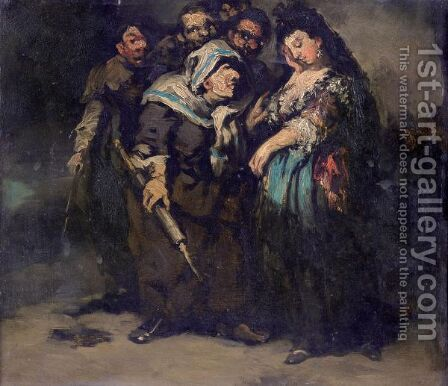 The Reprimand by (after) Eugenio Lucas Velazquez - Reproduction Oil Painting