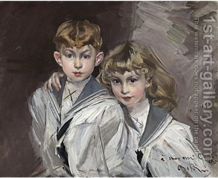 Portrait Of Eddy And Jacques Copper by Giovanni Boldini - Reproduction Oil Painting