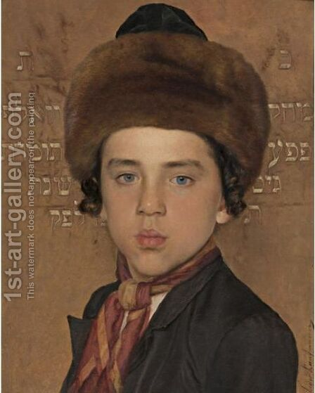 Portrait Of A Boy by Isidor Kaufmann - Reproduction Oil Painting