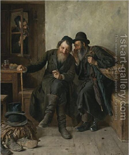 A Business Secret by Isidor Kaufmann - Reproduction Oil Painting