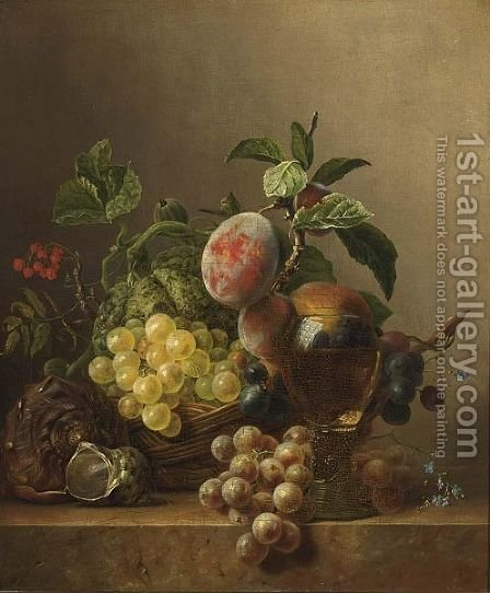 A Fruit Still Life by Diederik Jan Singendonck - Reproduction Oil Painting