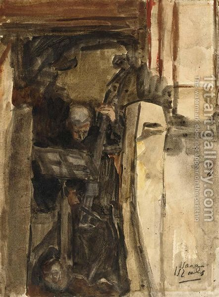 The Cello Player by Isaac Israels - Reproduction Oil Painting