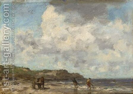 Shell Fishers On The Beach by Jacob Henricus Maris - Reproduction Oil Painting