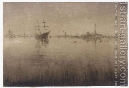 Nocturne by James Abbott McNeill Whistler - Reproduction Oil Painting