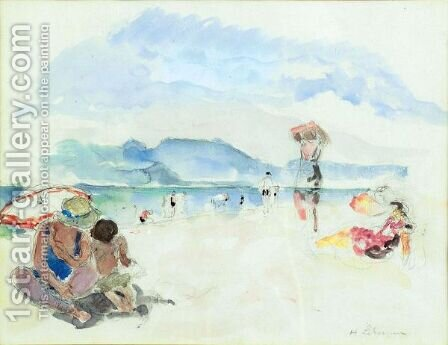Scene De Plage 2 by Henri Lebasque - Reproduction Oil Painting