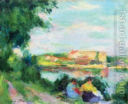 Paysage by Henri Ottmann - Reproduction Oil Painting