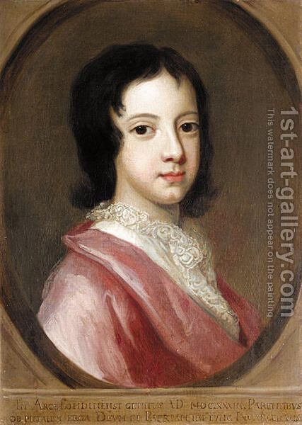 Portrait Of A Boy 2 by (after) Kneller, Sir Godfrey - Reproduction Oil Painting