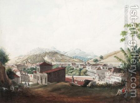 View Of The Aqueduct Of Rio Di Janiero by Jacob Janssen - Reproduction Oil Painting