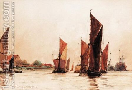 Off Tilbury 3 by Charles Edward Dixon - Reproduction Oil Painting