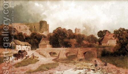 The Castle At Brecon, Powys by James Peel - Reproduction Oil Painting