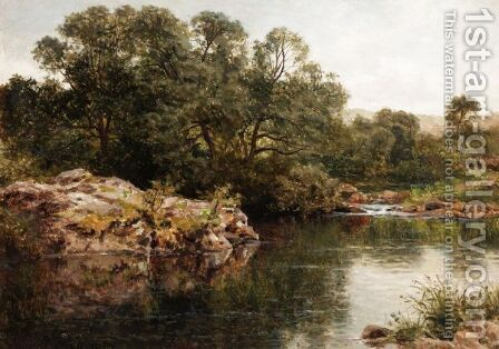 A River Bank by Benjamin Williams Leader - Reproduction Oil Painting