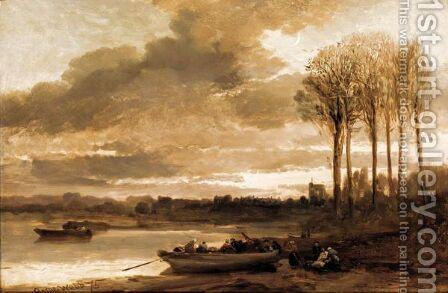 Belgian Landscape by James Webb - Reproduction Oil Painting